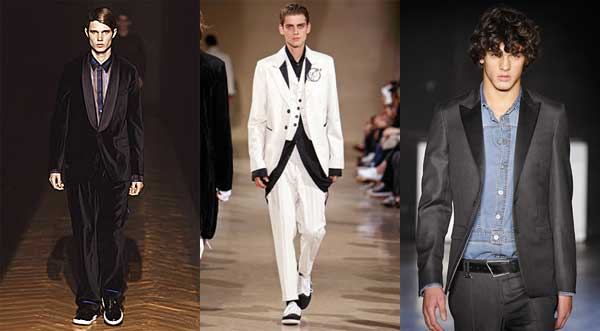 tuxedo whilst details such as shawl collars and satin or velvet trims