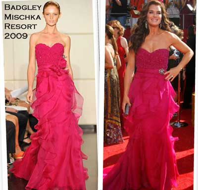 Brooke Shields in Badgley Mischka resort 2009