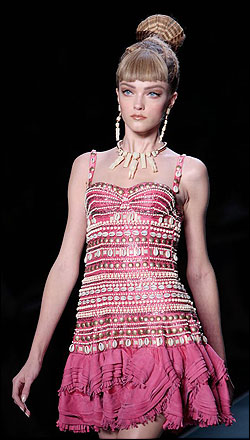 Christian Dior spring/summer 2009 collection at Paris fashion week