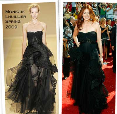 Debra Messing in Monique Lhuillier Spring 2009