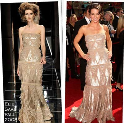 Evangeline Lilly in Elie Saab fall 2008 couture