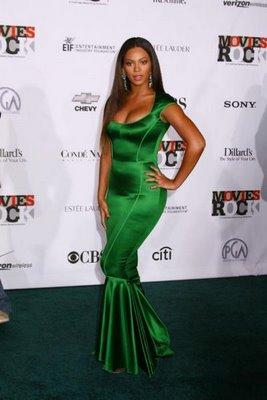 Beyonce green dress