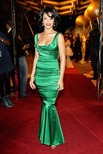 Rihanna green dress