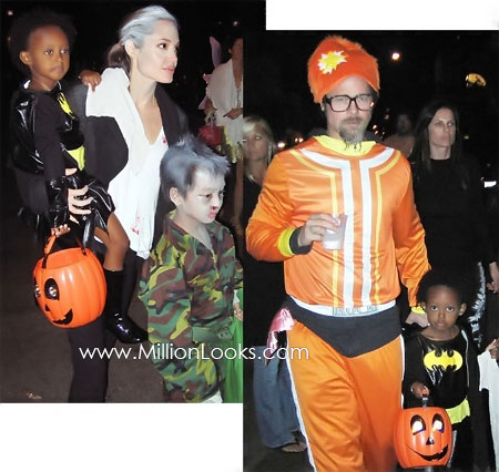 angelina Jolie and Brad Pitt Halloween costumes 2009