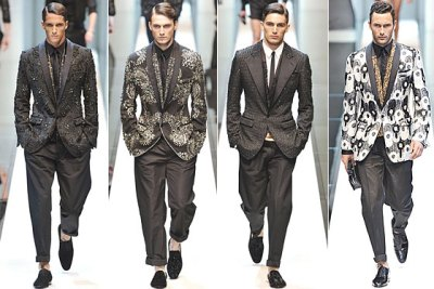 Beading, bold patterns-men fashion spring 2010