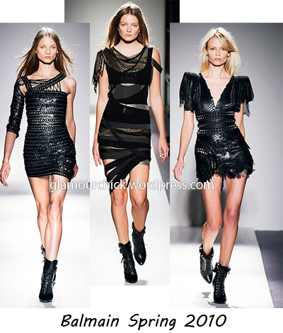 Balmain little black dress spring 2010-summer 2010
