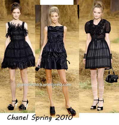 Chanel little black dress spring 2010-summer 2010
