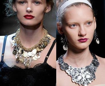 jewelry trends dolce gabbana bottega veneta spring-summer 2010
