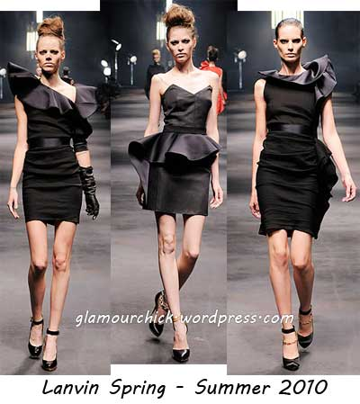 Lanvin little black dress spring 2010-summer 2010