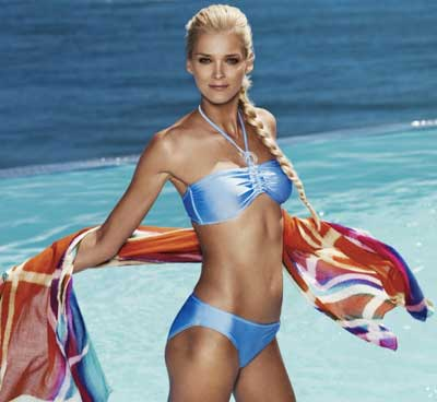 Lindex Summer 2010 swimwear with Carmen Kass