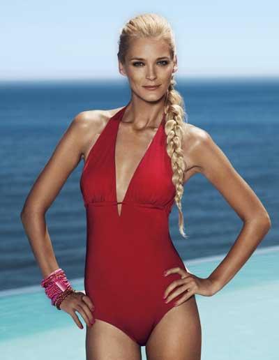 Lindex Summer 2010 swimwear with Carmen Kass