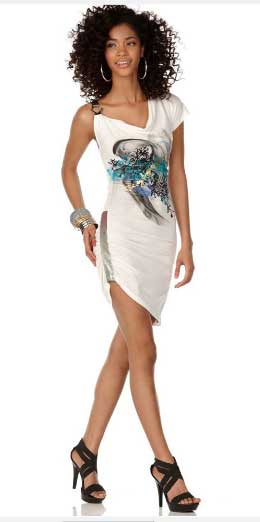 one shoulder dress summer 2010 trend