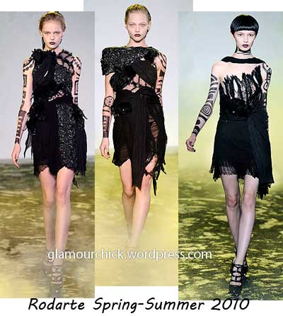 rodarte little black dress spring 2010-summer 2010