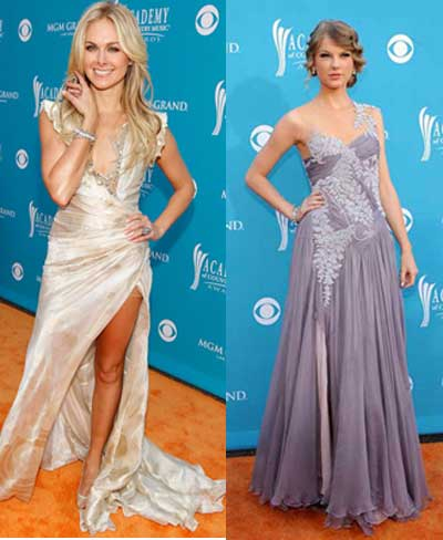 taylor swift and Laura Bell Bundy Academy of Country Music Awards 2010