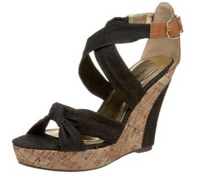 Wild Diva Women's Clarice-01 Wedge Sandal