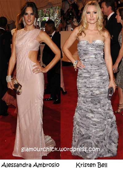 alessandra ambrosio and kristen bell met ball 2010