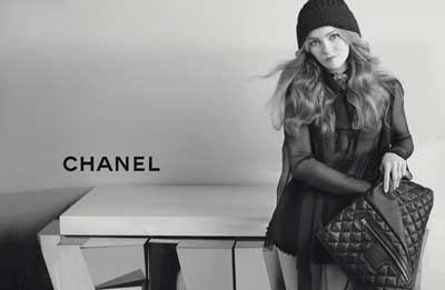Vanessa Paradis chanel cocoon fall 2010 ads