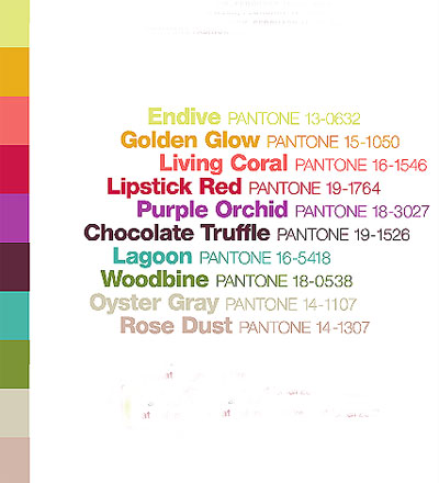 Color trends Fall 2010 Winter 2011