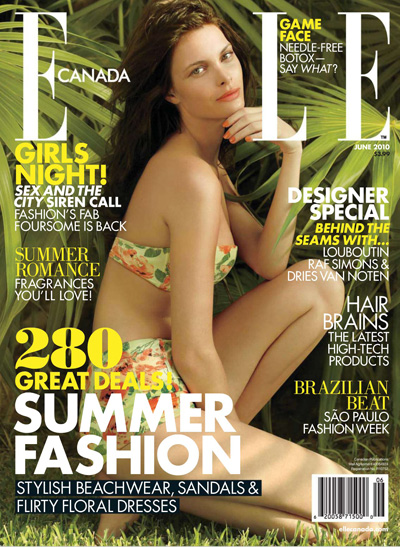 Elle Canada June 2010 Jessian Gravel