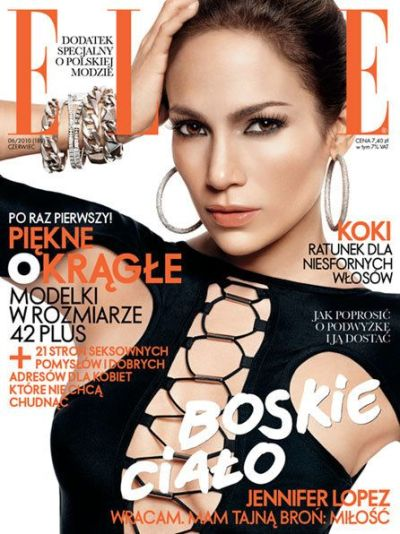 Jennifer Lopez Elle June 2010 Poland