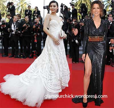 kate beckinsale and fan bingbing Cannes fashion 2010
