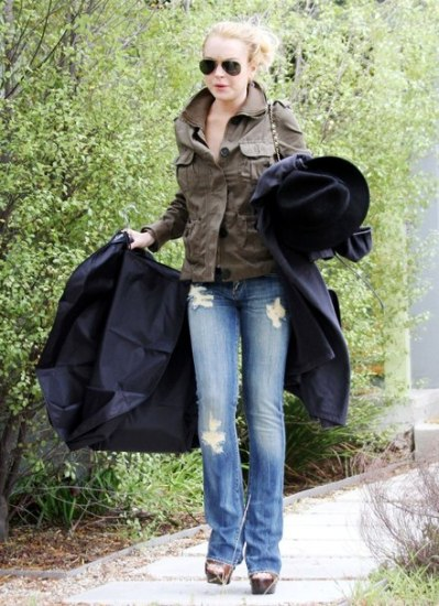 Lindsay Lohan in Citizens of Humanity Jeans