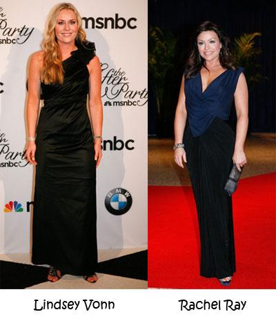 Lindsey Vonn and Rachel Ray-White-House-Correspondents-Dinner-2010