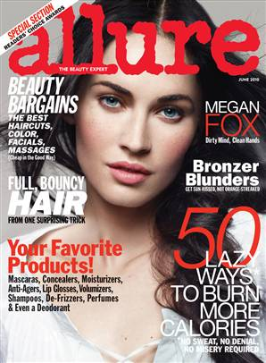megan fox allure june 2010