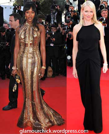Naomi Campbell and Naomi Watts style Cannes 2010