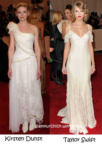 taylor swift and kirsten dunst met ball 2010